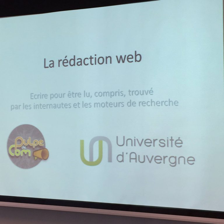 formation rédaction web SEO Clermont-Fd